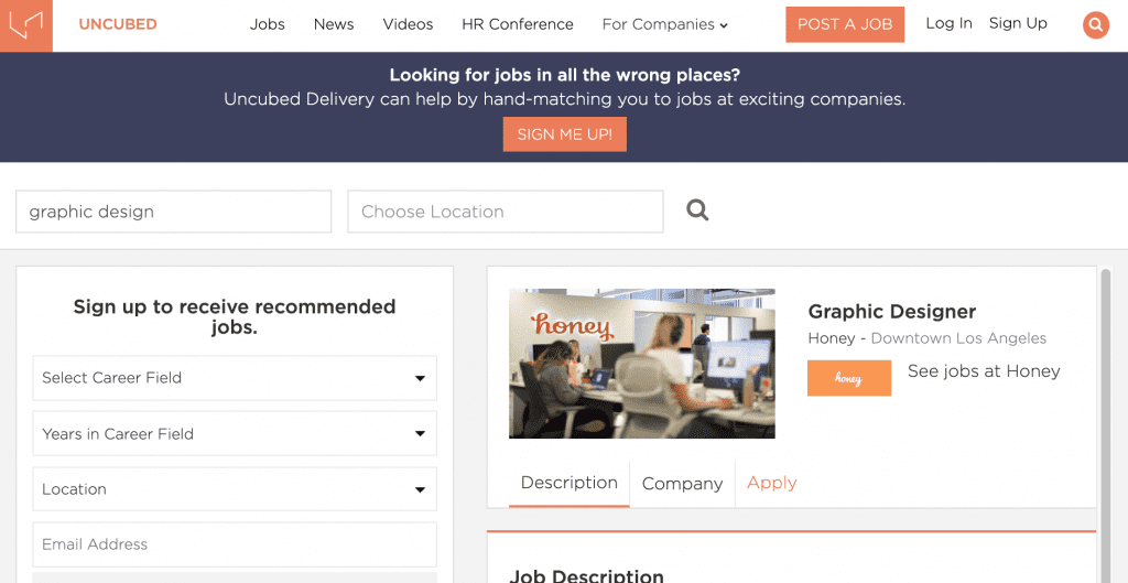 Uncubed - Search for a Job
