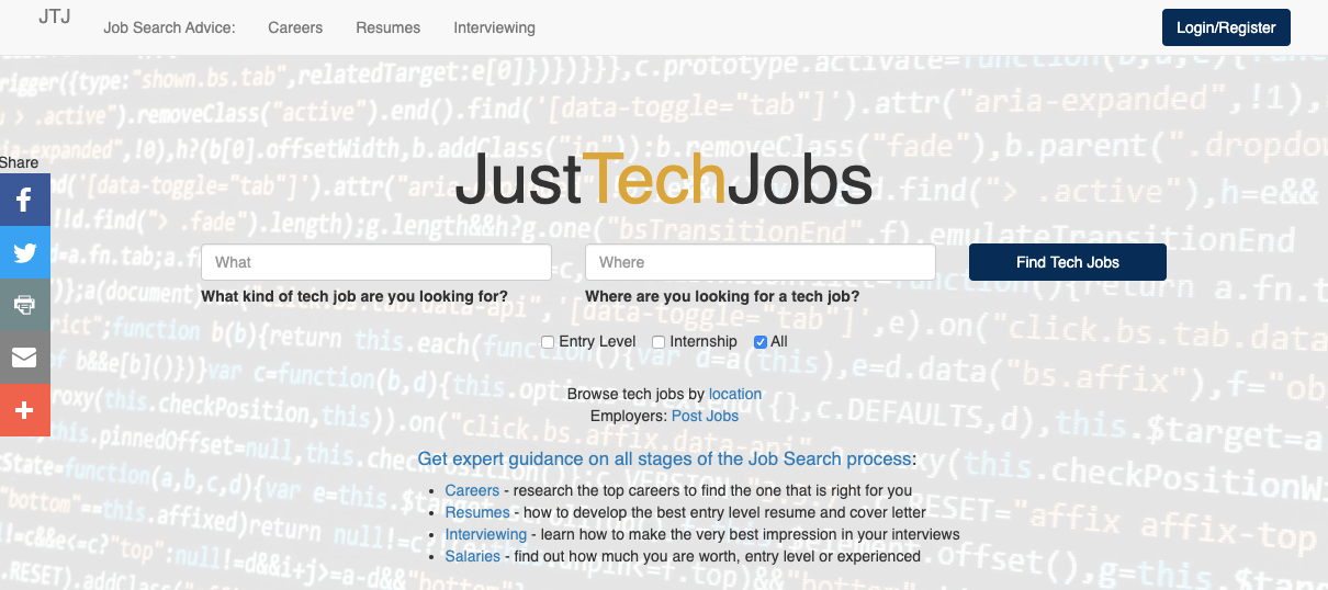 JustTechJobs - Learn How To Search For A Job